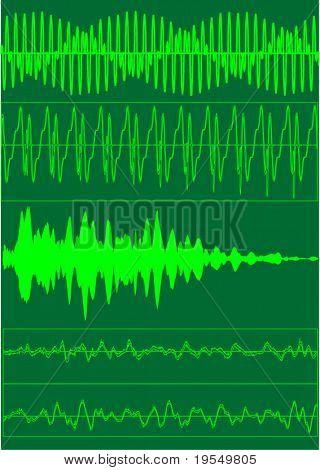Sound waves  - vector illustration