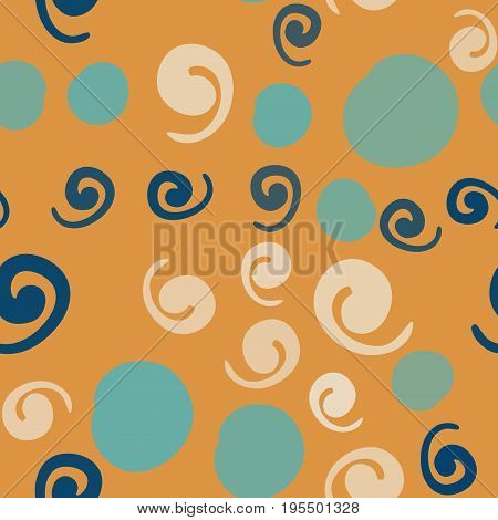 Seamless background texture with many twirls and spots, vector pattern