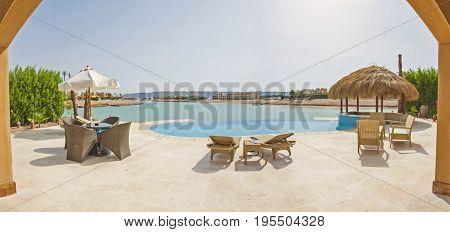 Swimming Pool At At Luxury Tropical Holiday Villa