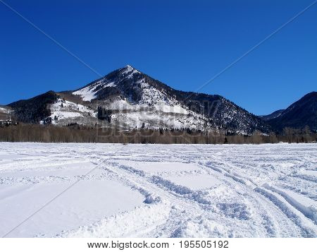 this is an image of the field in Utah where we snowmobiled