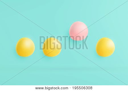 macarons on a blue background with pastels and pink highlights. The concept is differently harmonized in the object and used as a background on the web site.