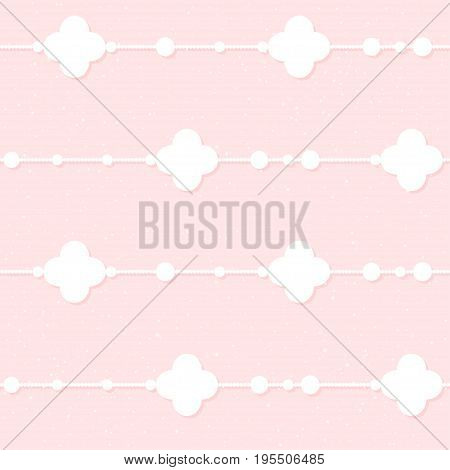 Wedding Decor. Bridal Romantic Seamless Pattern Background For Wedding Card, Bridal Invitation