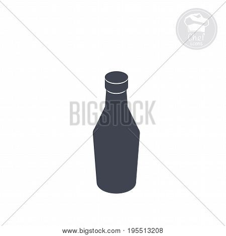 ketchup bottle flat icon, Vector computer graphics