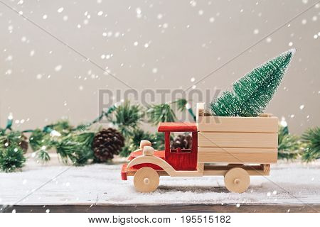 Christmas Tree On Toy Truck