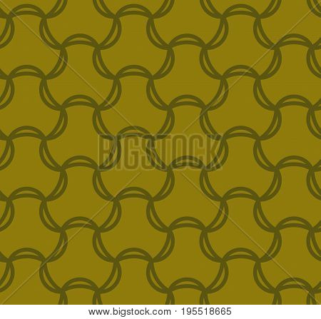 Seamless Pattern Abstract Geometric Ornament In Vintage Eastern Style Vector Illustration
