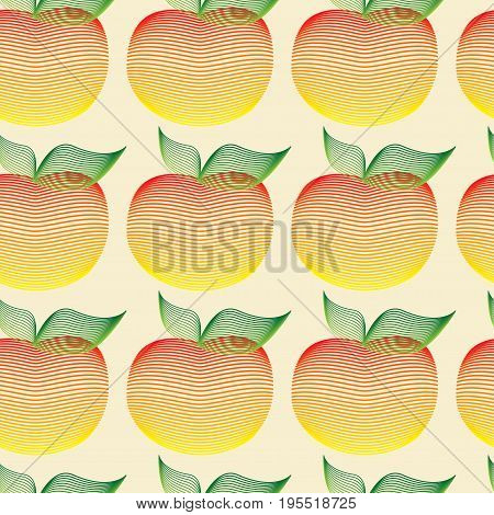 Seamless pattern with apples motif can be used in textiles, for book design, website background, EPS10
