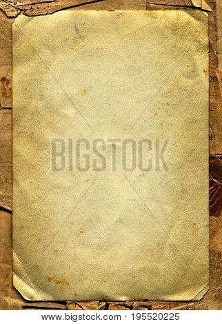 Old and Vintage Papers. Isolated On The White Background