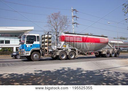 Cement Truck Of Phadungrit Transport.