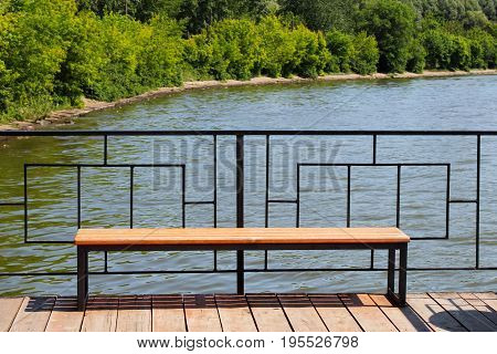 Bench On The Pier, Boat Station, Beautiful Place