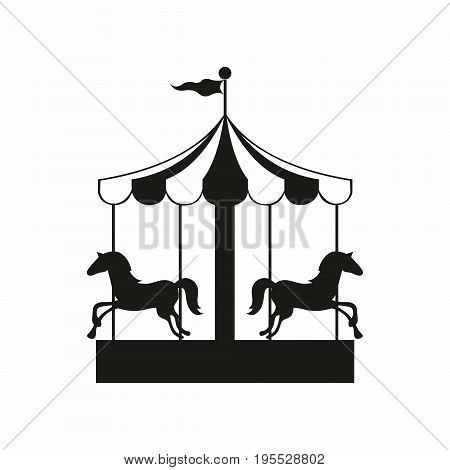 Carousel. Vector illustration for design and decoration of surfaces printing design banners and much more