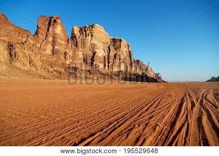 In The Desert  Sand And Mountain Adventure Destination