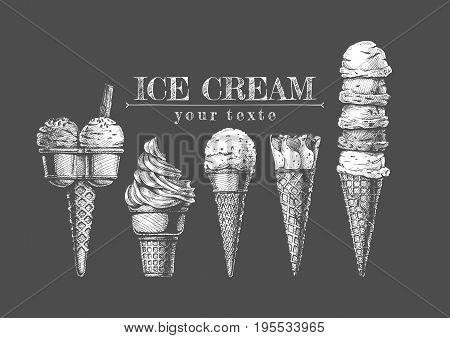 Set Of Ice-creams
