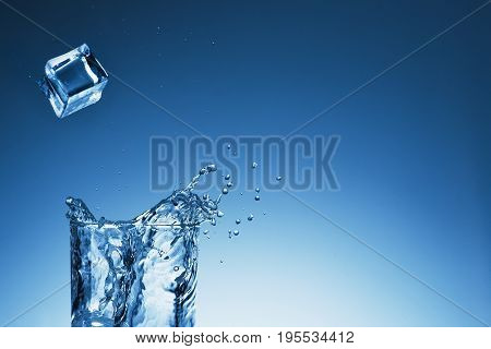 Splash Of Water Glass