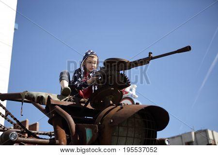 Child With Machine Gun