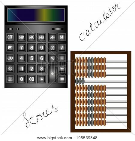 Black Accounting Calculator With Advanced Functions For Calculations And Scores