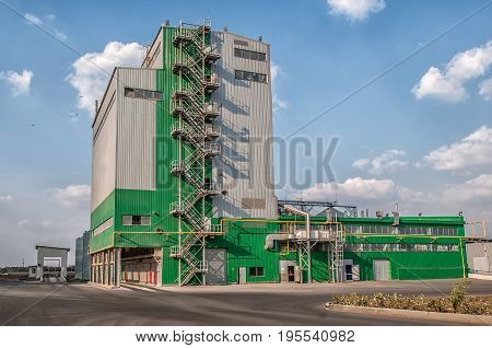 agricultural large industrial building factory farm for the cultivation of animals