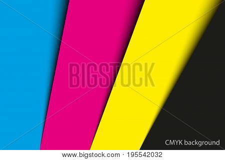 Abstract background sheets of paper in cmyk colors vector illustration
