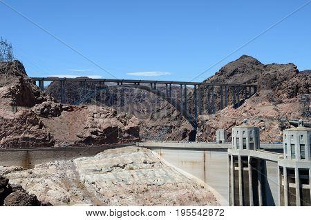 Hoover Dam On The Colorado River. Arizona, Usa