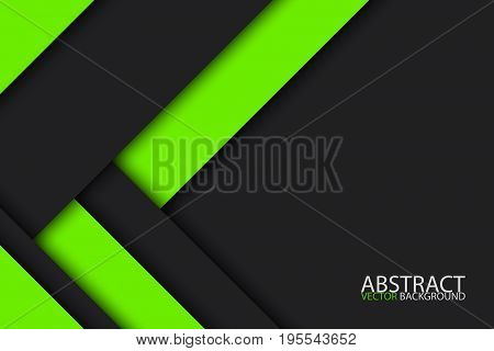 Black and green modern material design vector abstract widescreen background