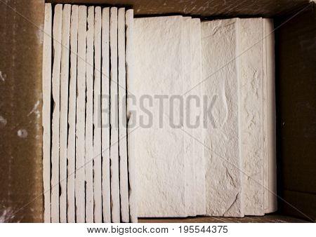 White Gypsum Tiles