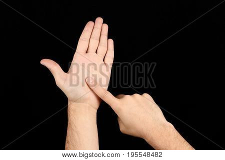 The Language Of The Deaf English Version Of The Gesture The Letter J Signaling Bsl
