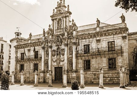 Ancient university in Valladolid, Castilla y Leon, Spain