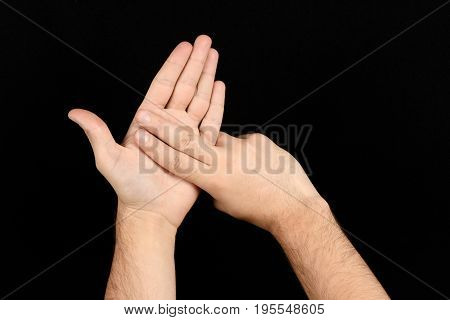 The Language Of The Deaf English Version Of The Gesture The Letter N Signaling Bsl
