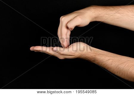 The Language Of The Deaf English Version Of The Gesture The Letter Z Signaling Bsl