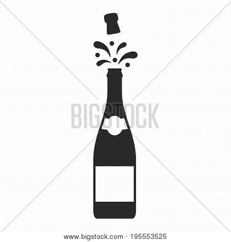 Champagne. Vector icon isolated on white background.