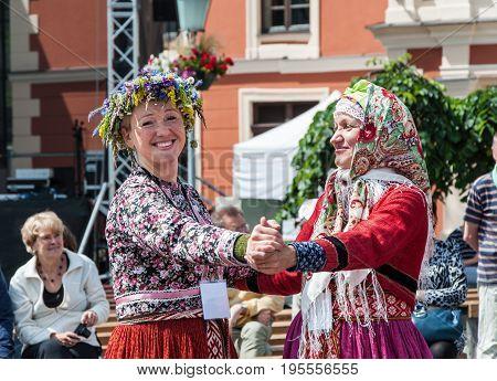 International Intangible Cultural Heritage Festival ''LAUKSNOS '' 07.15.2017 KLAIPEDA. SUITU SUEVAS LATVIA