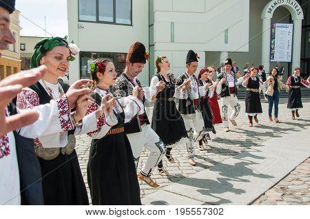 International Intangible Cultural Heritage Festival ''LAUKSNOS '' 07.15.2017 KLAIPEDA. BISTRITSA BULGARIA