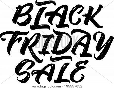 Black Friday Sale handwritten lettering. .Calligraphy for sales banner logo label web design. Vector illustration