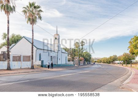 KEIMOES SOUTH AFRICA - JUNE 12 2017: The historic Dutch Reformed Mission Church in Keimoes is now a museum