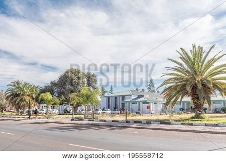 KEIMOES SOUTH AFRICA - JUNE 12 2017: The municipal buildings in Keimoes in the Northern Cape Province