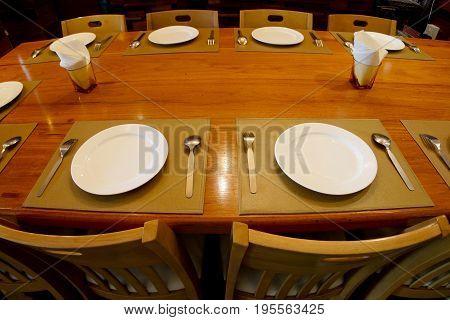 Fisheye Photo Of Restaurant Dining Table