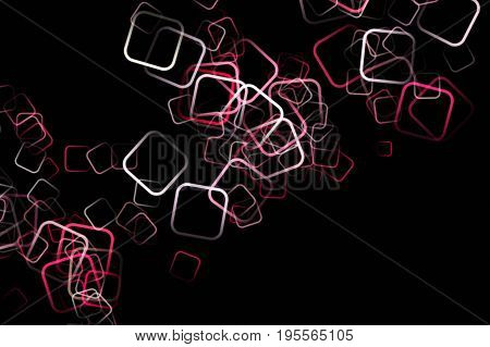 Abstract square background design illustration on black