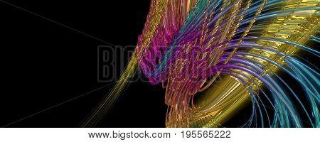 Abstract Wonderful Glass Design Illustration 3D Illustration