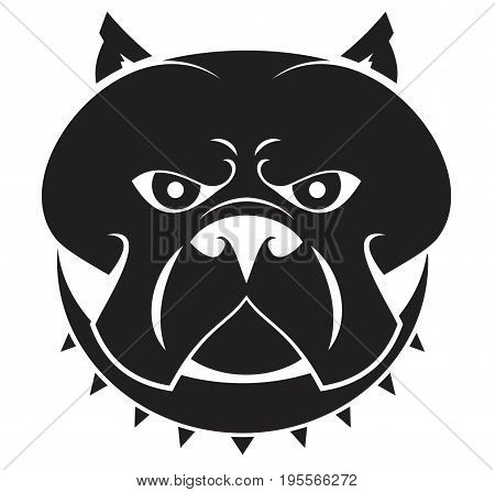 emblem American Staffordshire Terrier in a spiky one collar vector