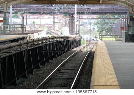Commuter Rail tracks under 30th Street Station Philadelphia