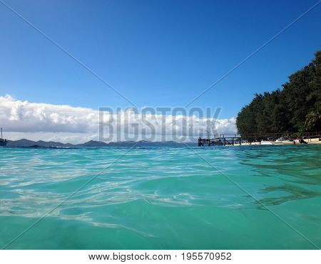 Scen Of Doini Island From The Water, Papua New Guinea.