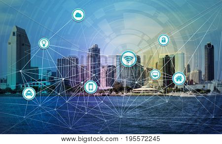 An illustration of smart city internet of things concept