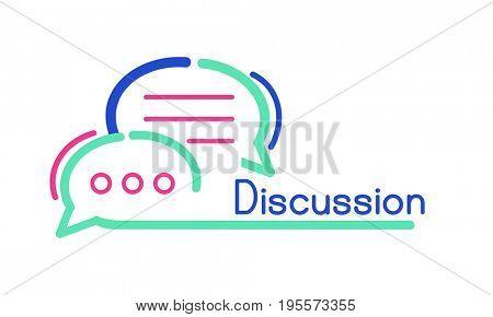 Sign symbol speech bubble graphic