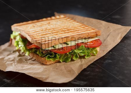 Sandwich With Meat. Stock Image