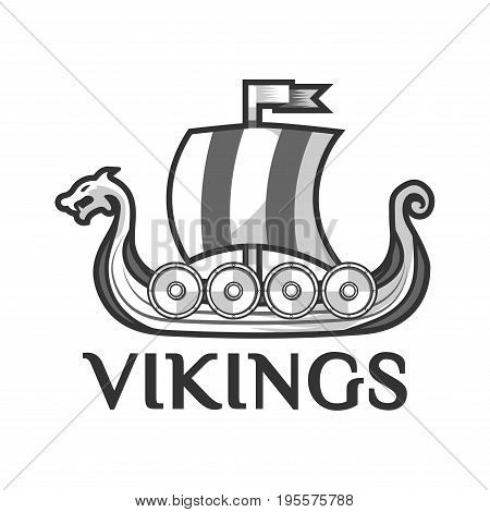 Viking Warship Boat Vector & Photo (Free Trial) | Bigstock