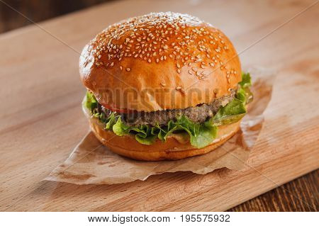 Beefburger. Stock Image