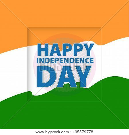 Happy Independence Day india. Vector illustration. Greeting card flyer