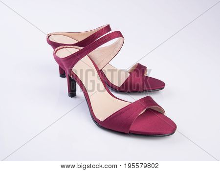 Shoe Or Woman Sandal On A Background.