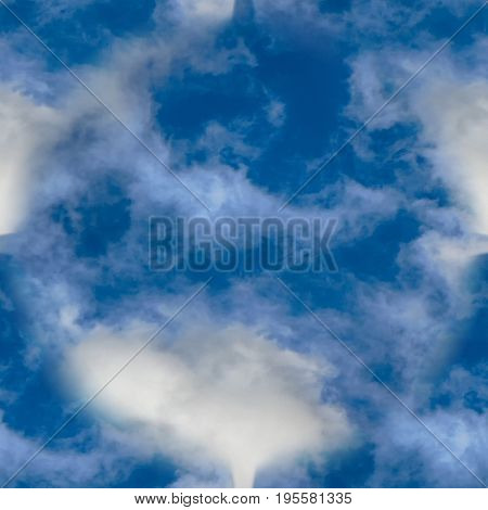 Seamless Texture Of White Clouds In The Sky