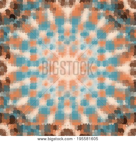 Seamless Mosaic Background. Abstract seamless vector pattern