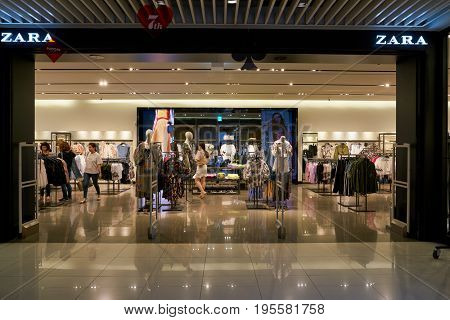 SEOUL, SOUTH KOREA - CIRCA MAY, 2017: a Zara store in Seoul. Zara is a Spanish clothing and accessories retailer